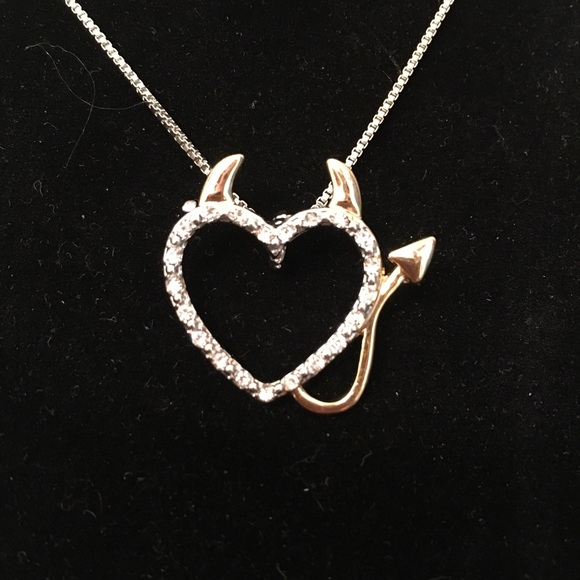 Boutique Jewelry - Silver Gold Good & Evil Necklace